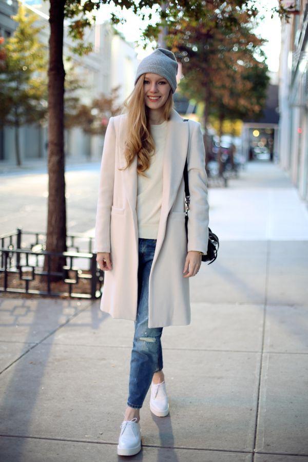 осенний образ с пальто