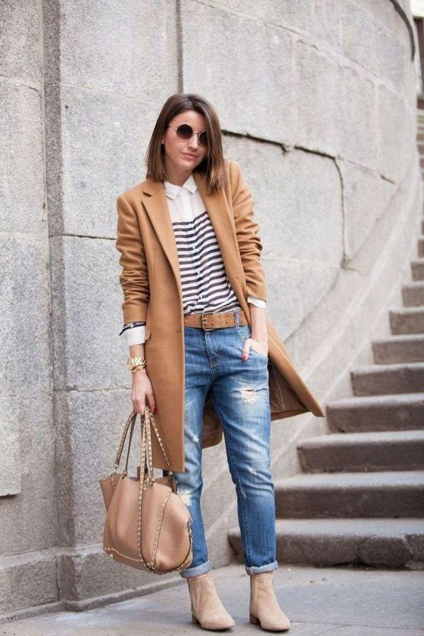 коричневое осеннее пальто