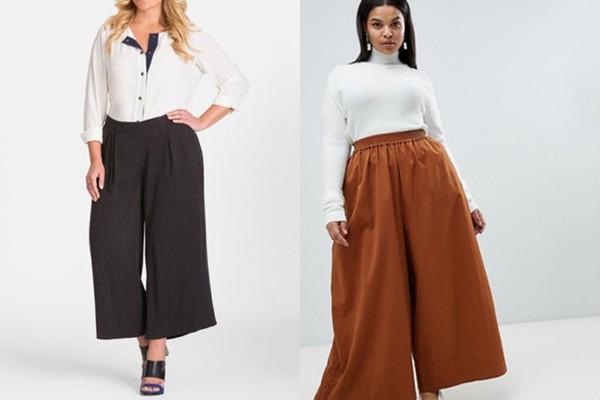 широкие брюки для полных женщин
