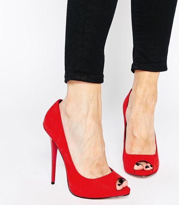 туфли типа лодочки с открытым носком