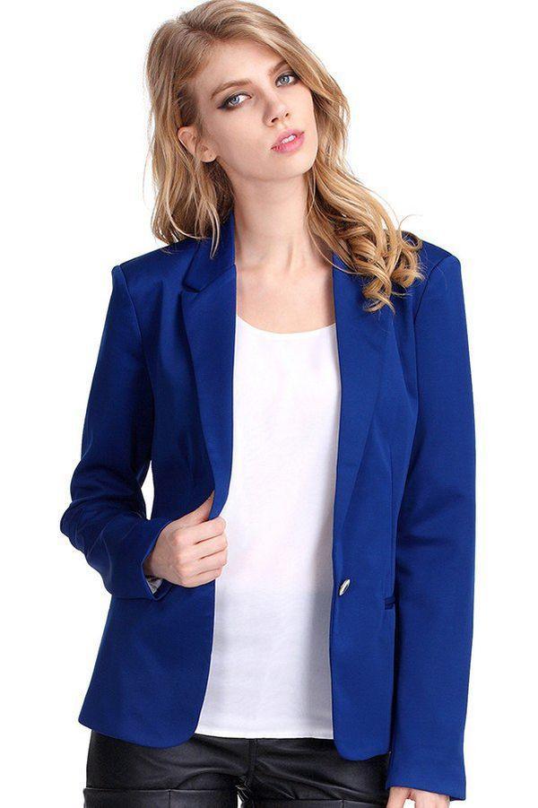 Блузка под синий пиджак