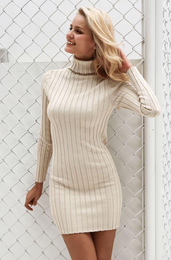 Красивые модели женских платьев типа свитер и с чем их носить, как выбрать стильный лук