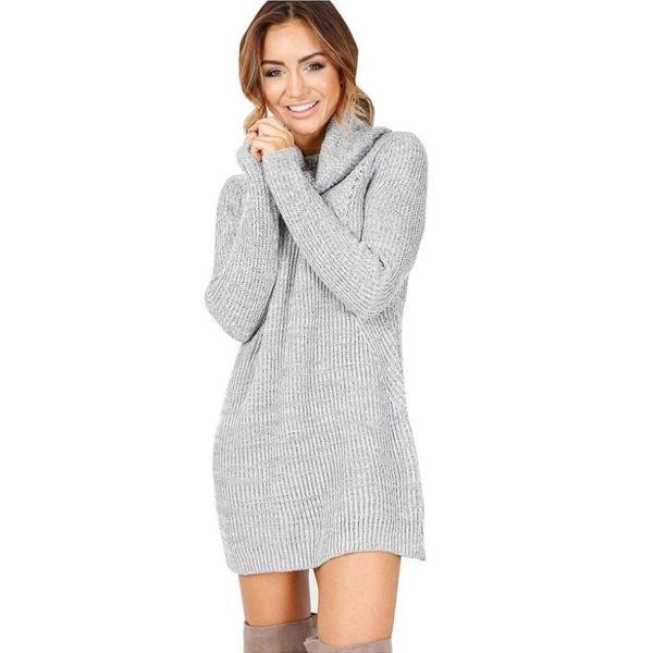 платье свитер до запястья