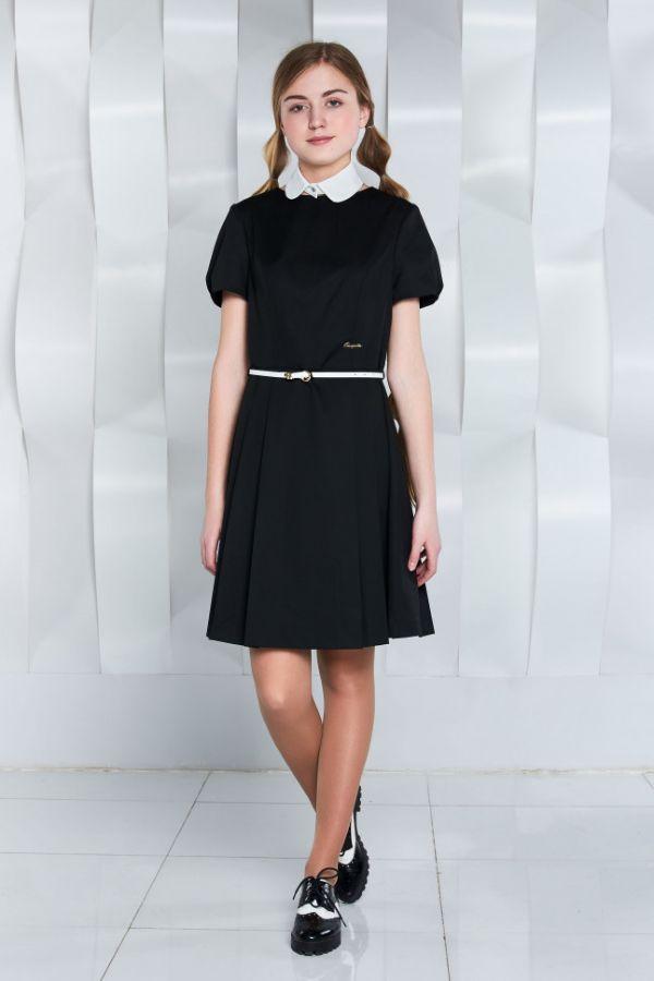 школьное платье с ремнем