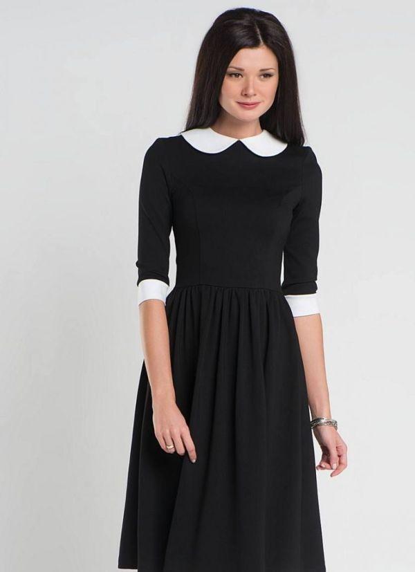 черное платье для школы