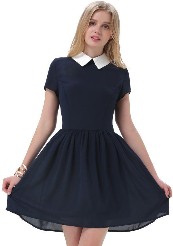школьное платье из хлопка