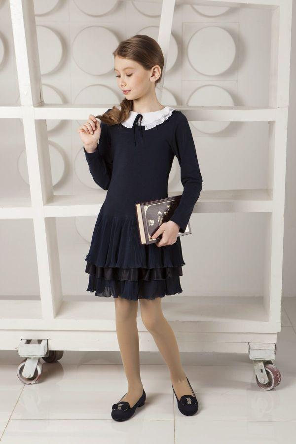 Красивые фасоны и модели школьных платьев для девочек, стильные образы
