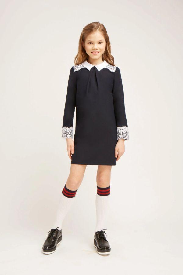 короткое школьное платье