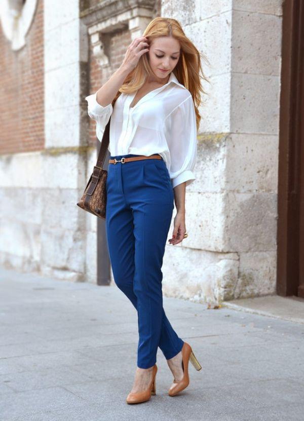 туфли под синие брюки