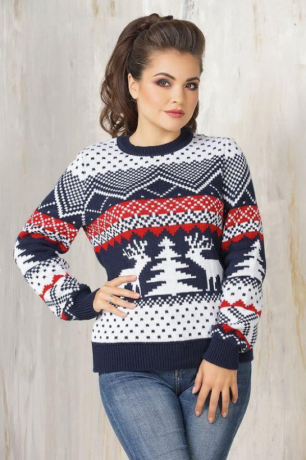 свитер с узорами