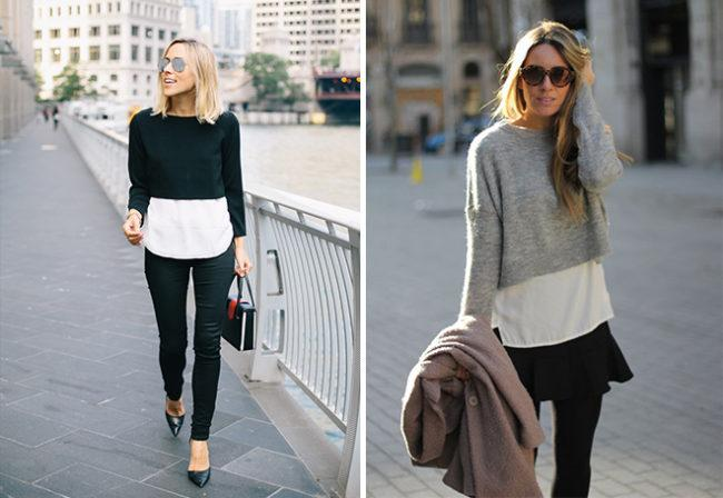 свитер-обманка