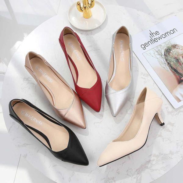 Модные фасоны туфель-лодочек на среднем каблуке, как выбрать и с чем носить