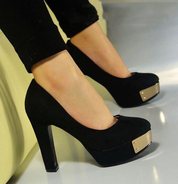 туфли на толстом и широком каблуке