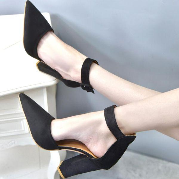 туфли с острым носом на каблуке