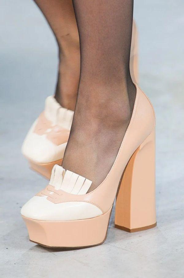 туфли с круглым носом