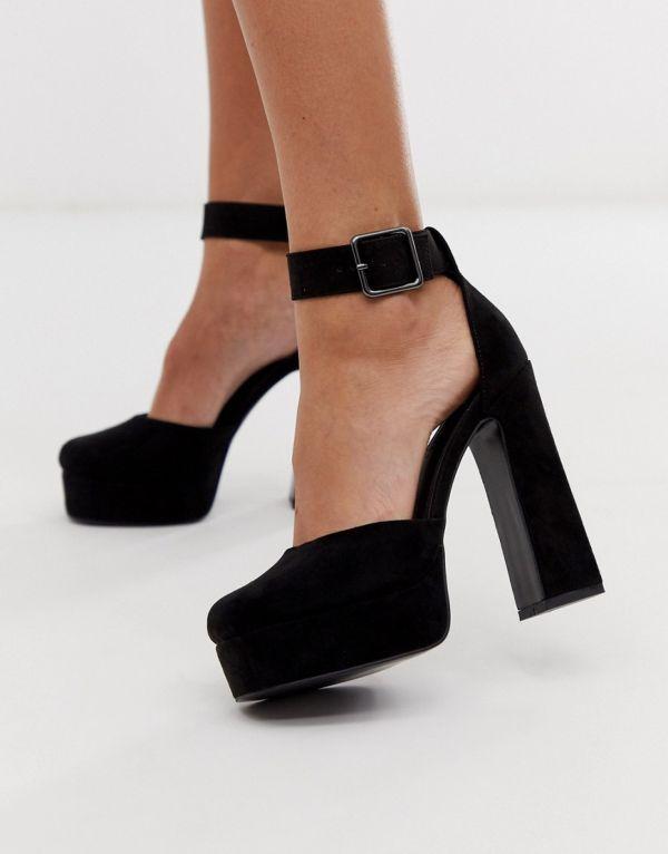 черная обувь на каблуке