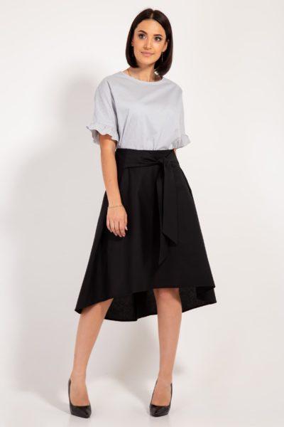 миди юбка черная
