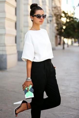 женские брюки галифе с босоножками