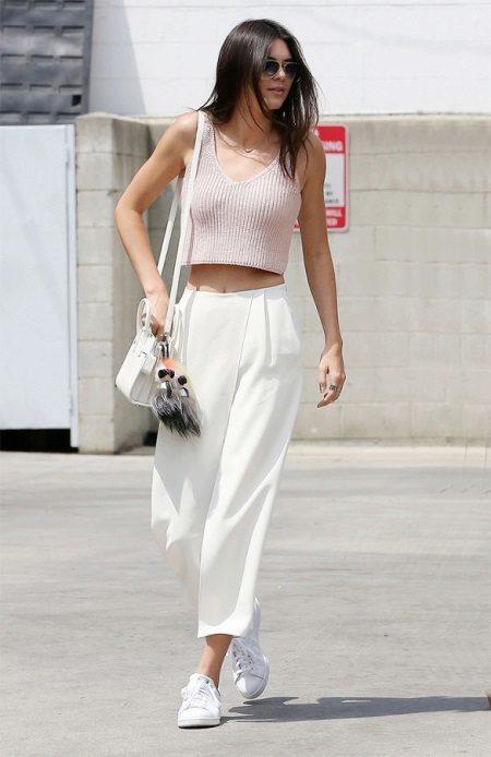 белые женские брюки галифе