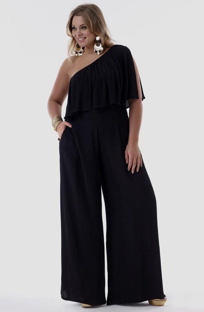 вечерние брюки для полных женщин