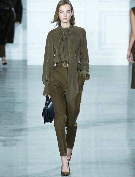 женские брюки галифе цвета хаки