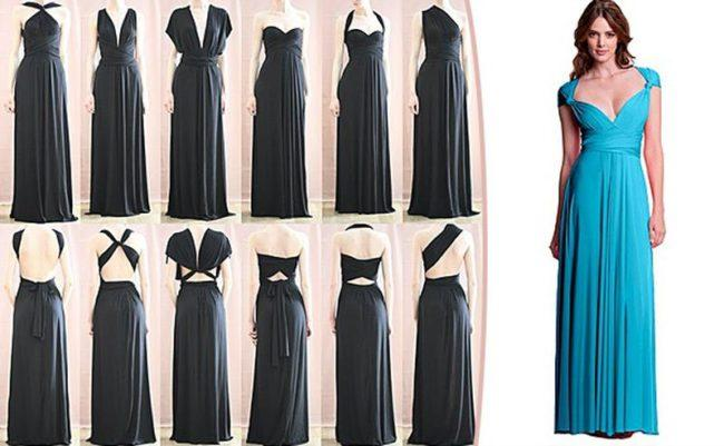 способы ношения платья трансформера