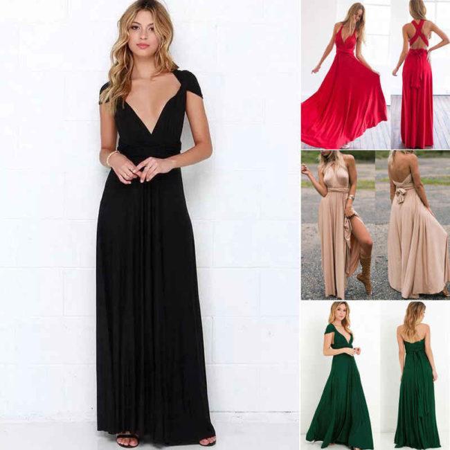 платье трансформер разного цвета