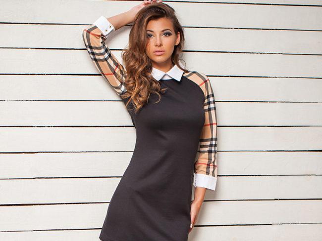 прямое платье с регланом