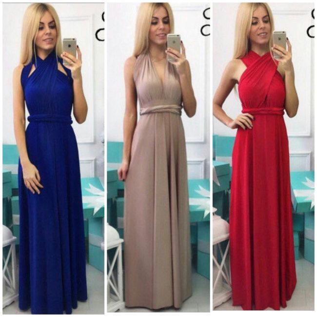 платье трансформер разных цветов