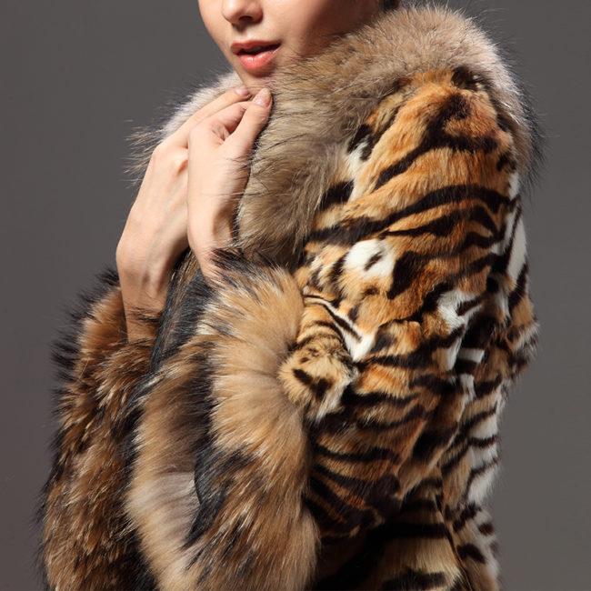 шуба из меха тигра
