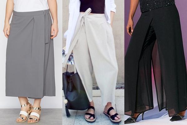 юбка брюки с запахом