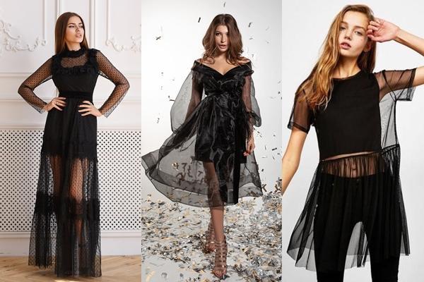 Особенности и модные фасоны прозрачных платьев, с чем носить