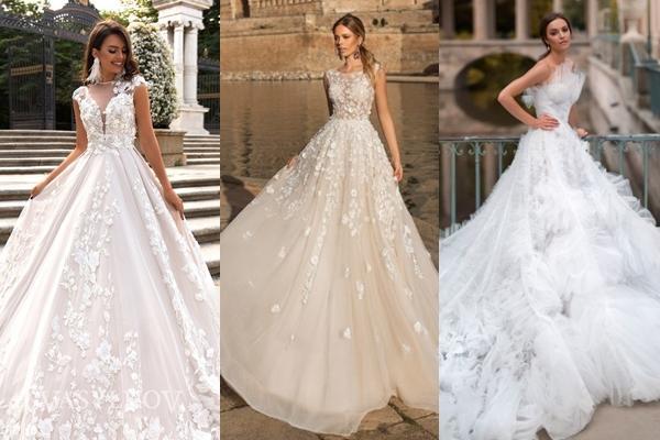 варианты пышных свадебных платьев