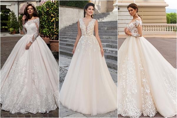 фасоны пышных свадебных платьев