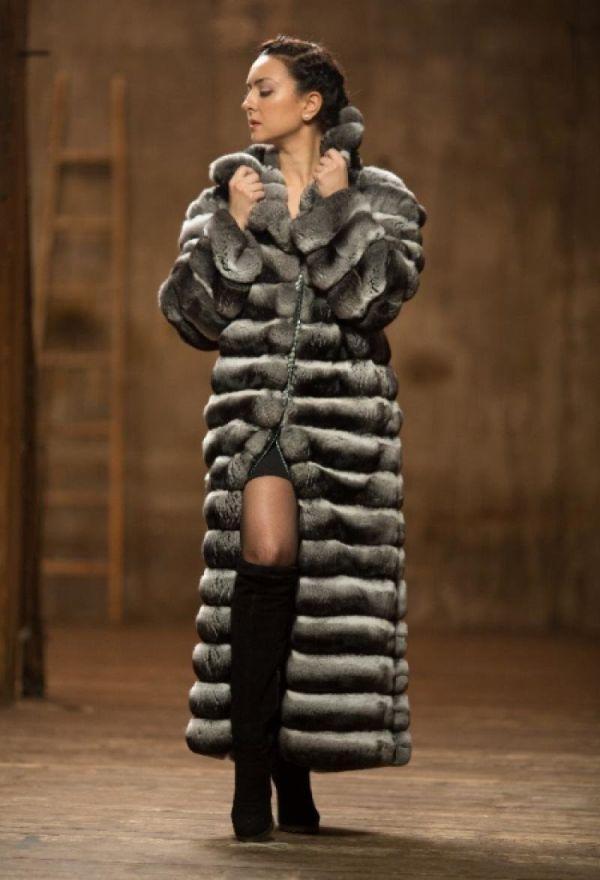 Стильные модели и фасоны шубы из шиншиллы, с чем лучше носить