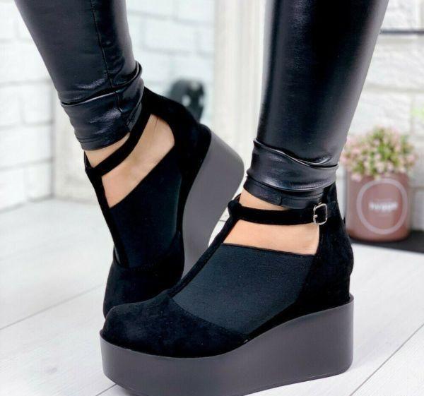 Женские туфли на сплошной подошве