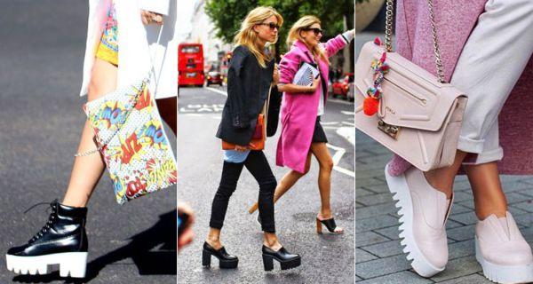 С чем носить туфли на высокой и низкой платформе, популярные разновидности