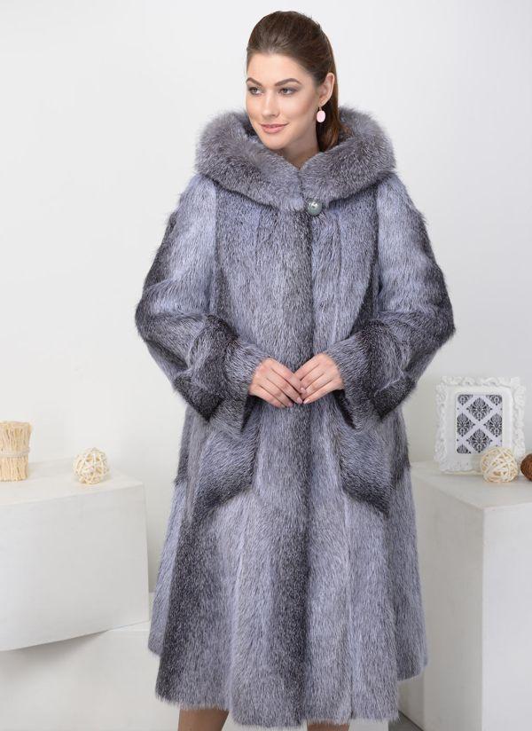 Пальто из нутрии