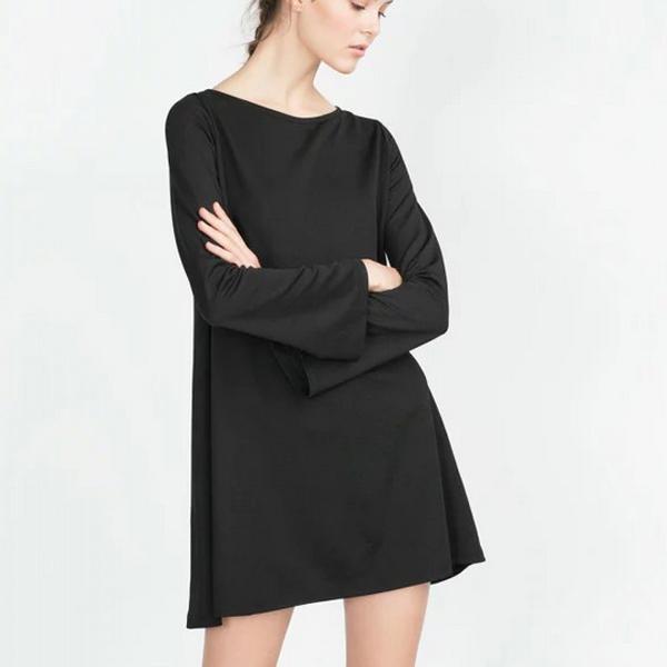 черное платье трапеция