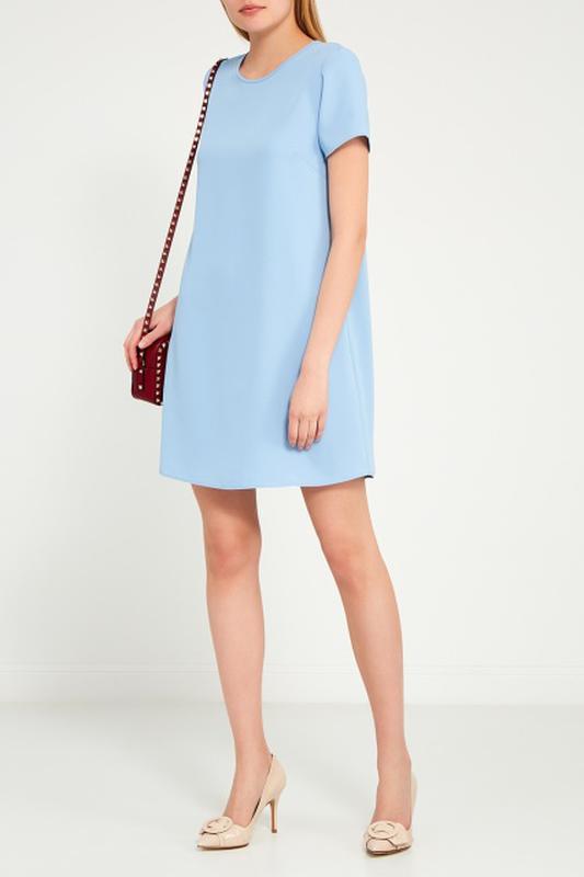 голубое платье трапеция