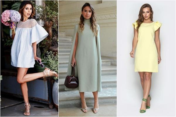 стильные образы с платьем трапецией