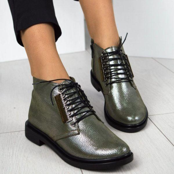 Демисезонные ботинки на шнуровке
