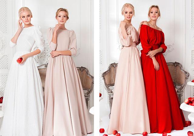 платье подружки невесты на зиму