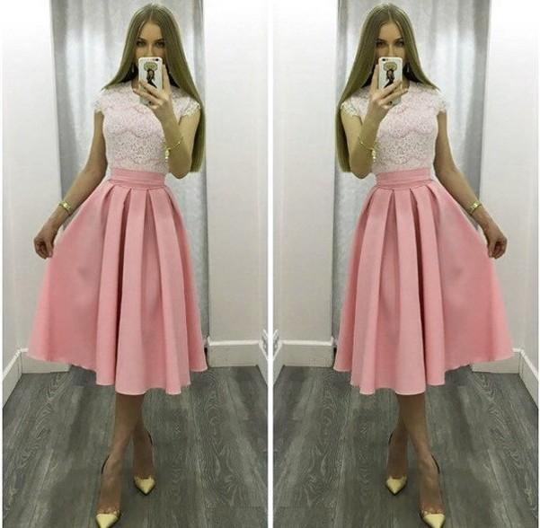 платье миди Персиковый