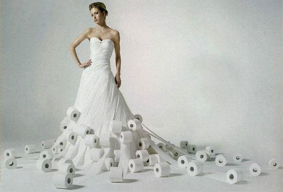 Из бумаги платье