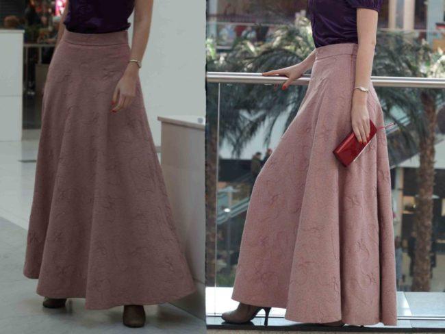 юбка с запахом Без боковых швов