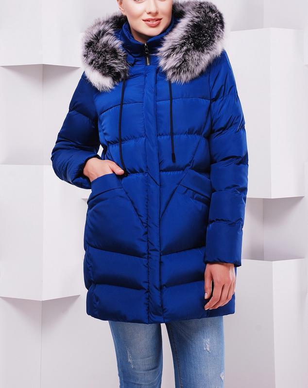 Синий цвет на куртке