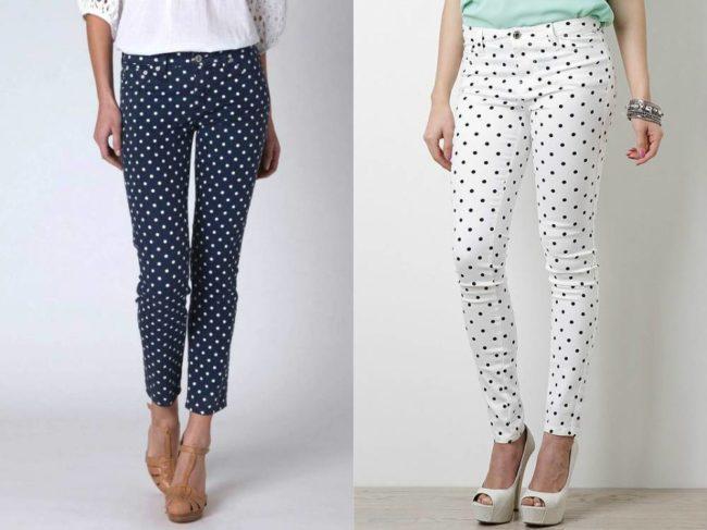 женские брюки в Горошек
